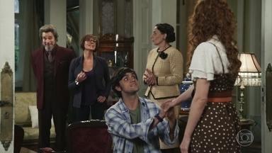 Elmo pede Miss Celine em casamento - Carmen acompanha Dom Sabino à mansão de Agustina para resolver a situação de Elmo e Miss Celine