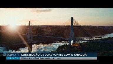 Duas novas pontes serão construídas entre Brasil e Paraguai - No Paraná, uma das pontes vai ser construída em Foz do Iguaçu.