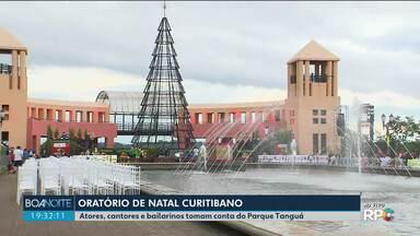 Cantores, músicos e bailarinos se apresentam no Parque Tanguá em uma ópera a céu aberto - O repórter do Natal, Bruno Fávaro, também conversou com quem está de malas prontas pra rever a família no Natal.