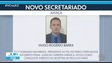 Helder anuncia presidente do PSL no Pará, Hugo Barra, para Secretaria de Justiça - Hugo é formado em direito e especialista em direito penal.