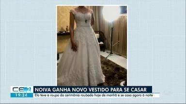 Final feliz para a noiva que teve vestido roubado no dia do casamento - Outras informações no g1.com.br/ce