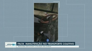 Motoristas de ônibus reclamam de condições de trabalho, em Manaus - Categoria paralisou atividades em protesto por pagamento atrasado.