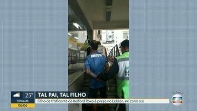 Traficante é preso no Leblon - Investigadores dizem que Everton Alan Soares da Conceição é chefe de uma quadrilha de roubo de cargas, na Baixada Fluminense.