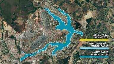 Áreas do Lago Paranoá são classificadas de acordo com o uso - Decreto assinado por Rodrigo Rollemberg separa área para banhistas, esportistas e lanchas, por exemplo. Texto não prevê punição a quem desrespeitar normas.