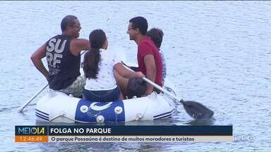 Parque Passaúna é destino de muitos moradores e turistas no fim do ano - O movimento no local tem crescido nessa época, um alerta importante é sobre o lago da represa, que não tem guarda vidas. Por isso, o local é proibido para banho.