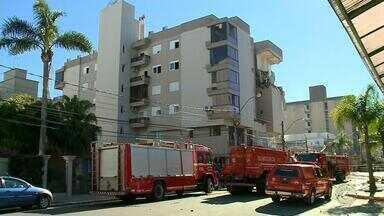 Vazamento de gás teria causado explosão seguida de incêndio em Farroupilha - Parte da estrutura ainda corre risco de desabamento.