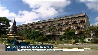 Câmara vota afastamento do prefeito de Mauá - Átila Jacomussi, do PSB, está preso desde o dia 13 de dezembro. Defesa já teve um pedido de habeas corpus negado e agora recorre ao STF.