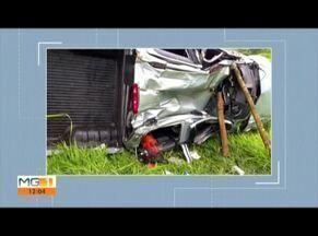 Mulher morre e outras três pessoas ficam feridas em acidente na BR-116 - Caminhonete saiu da pista e caiu em ribanceira.