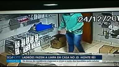 Ladrões fazem a limpa em casa no Jardim Monte Rei, em Maringá - De acordo com a polícia, o furto foi na véspera de natal. Os moradores foram viajar e, quando voltaram, foram surpreendidos.