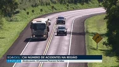 Número de acidentes cai em 30% no feriado de Natal de 2018 em relação a 2017 - Confira o balanço da Polícia Rodoviária Federal sobre os acidentes nas rodovias da região dos Campos Gerais.
