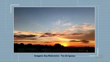Telespectadora registra o pôr do sol em Foz - A participação veio pelo whatsapp (45) 9 9951-5958