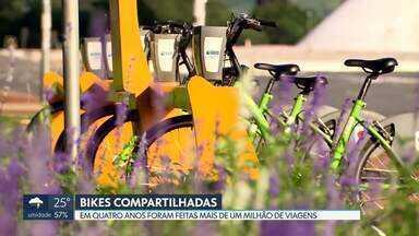 Projeto de bikes compartilhadas do GDF completa 4 anos - De acordo com levantamento, em quatro anos foram feitas mais de um milhão de viagens. A maior parte dos usuários, 72,98%, são homens.