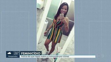 Mulher é morta por namorado em motel de Madureira - Ana Rita Dantas da Silva tinha 23 anos. Segundo a polícia ela foi asfixiada pelo namorado, Jonatan de Melo Ferreira, de 26 anos. Ele se entregou à polícia e foi levado algemado para a delegacia.