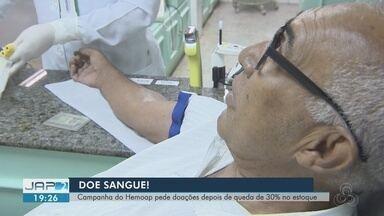 Hemocentro de Macapá faz campanha para doação de sangue neste fim de ano - Hemoap pede doações após queda de 30% no estoque.