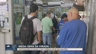 Apostadores de Brasília sonham com o prêmio da Mega-sena - O prêmio da Mega-sena da virada está estimado em R$ 280 milhões. As apostas podem ser feitas até as 16 horas do dia 31 de dezembro.