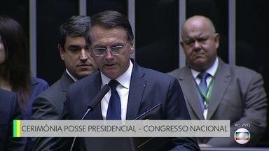 Jair Bolsonaro e Mourão são empossados - O presidente e o vice prestaram o compromisso constitucional.