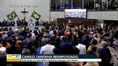 Governador Camilo Santana toma posse para segundo mandato - Depois do juramento, ele empossou secretários
