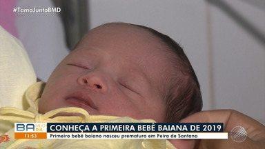 Conheça o primeiro bebê baiano que nasceu prematuro em Feira de Santana - A menina chamada Maria Helena nasceu um mês antes do previsto.