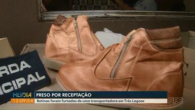 Homem é preso vendendo botas roubadas de transportadora - Ele já tinha passagem pela polícia