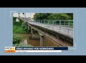 Morador mostra situação de ponte interditada em Carlos Chagas - Ponte está interditada e moradores reclamam da demora por obras.