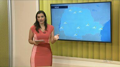 Pode chover a qualquer momento no Noroeste - Em Paranavaí, a temperatura máxima pode chegar a 34ºC.
