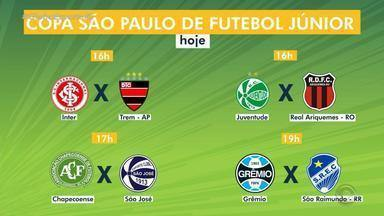 Inter e Grêmio estreiam na Copa São Paulo de Futebol Júnior nesta quinta-feira (3) - Assista ao vídeo.