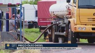 Mesmo com fim do programa de subsídeo, diesel em Uberlândia ainda não teve reajuste - Petrobras já subiu em 2,5% o preço do diesel nas refinarias. Presidente do Sindicato das Empresas de Transportes de Cargas do Triângulo Mineiro fala sobre assunto.