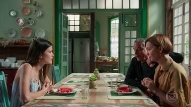Cris conversa com Flávio e Ana sobre a situação de Américo - Flávio promete ajudar no que puder
