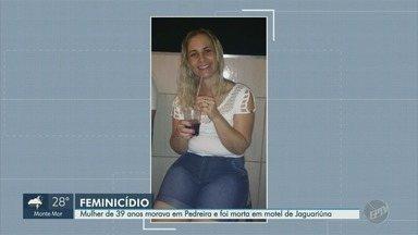 Mulher de 39 anos é encontrada morta por estrangulamento em motel de Jaguariúna (SP) - Queli Aparecida Simon tinha três filhos e estava indo trabalhar quando foi abordada por um homem de 43 anos. O suspeito foi preso tentando fugir com o veículo da vítima.