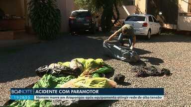 Homem morre após acidente com paramotor em Arapongas - Quando o corpo chegou ao IML, não havia médico legista.