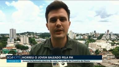 Mãe de jovem morto pela PM em Cruzeiro do Oeste contesta a versão dos policiais - O rapaz estava armado, depois de, supostamente, ter sido vítima de uma tentativa de roubo. Os policiais disseram que ele desacatou a ordem para largar a arma. A mãe nega.