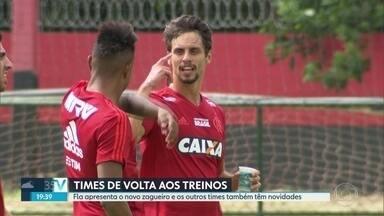 Fim de férias para Fla, Flu e Vasco - Botafogo retorna aos treinos nesta sexta-feira. Zagueiro Rodrigo Caio é a maior novidade até agora entre os times cariocas.