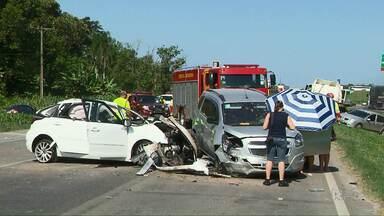 Motorista que causou acidente na BR-277 em Paranaguá presta depoimento - Bebê que ficou ferido na batida está em estado grave.