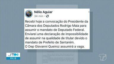 Prefeito Nélio Aguiar recusa mandato de deputado federal na Câmara - O prefeito de Santarém assumiria a vaga por ser o primeiro suplente da coligação. Lúcio Vale, renunciou para assumir a vice-governadoria do Pará.