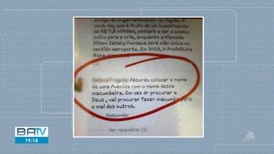 Cresce o número de ocorrências envolvendo intolerância religiosa na Bahia - Nos últimos dias um símbolo sagrado do candomblé foi danificado e nas redes sociais à Mãe Stella de Oxóssi foi alvo de ataques.