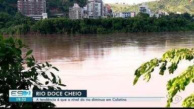 Volume do Rio Doce em Colatina começa a diminuir - Volume está alto no local, mas a tendência é que diminua.