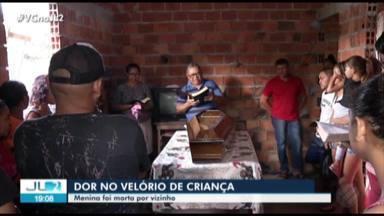 Criança morta após ser estuprada por vizinho é sepultada em Bragança - O adolescente apontado com autor do crime está apreendido.
