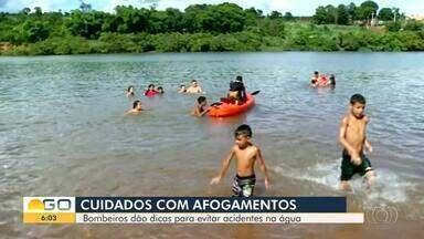 Mais de 60 casos de afogamento foram registrados em 2018 em Goiás - Corpo de Bombeiros dá dicas sobre como evitar os casos.