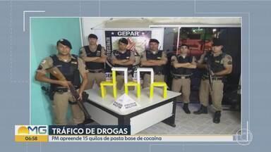 PM faz maior apreensão de pasta base de cocaína da Serra, em BH, dos últimos 10 anos - Os militares chegaram até a Favela do Cafezal depois de receberem denúncias de que no local havia droga escondida.