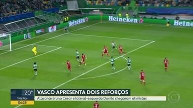 Vasco apresenta atacante e lateral - Bruno César estava no Sporting, de Portugal, e Danilo veio da Ponte Preta.