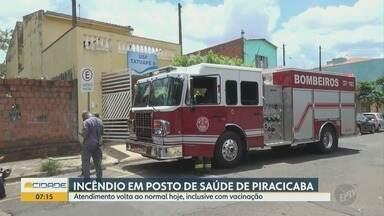 Incêndio atinge posto de Saúde em Piracicaba - Na Quinta feira (3), um dos postos de saúde de Piracicaba teve o atendimento suspenso devido um incêndio. Atendimento volta ao normal hoje, inclusive com vacinação.