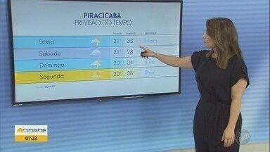 Sexta-feira tem máxima de 28ºC em Campinas - Confira a previsão do tempo.
