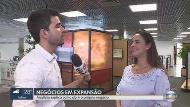 Cresce o número de novas empresas em Belo Horizonte - Levantamento mostrou que, no ano passado, foram abertos na capital cerca de 56 mil novos negócios. O número foi maior que em 2017. Uma analista explica como abrir e manter um negócio de sucesso.