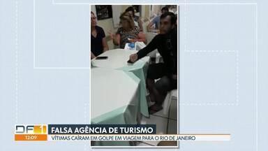Vítimas caem em golpe de viagem para o Rio de Janeiro - Falsa agência de turismo oferecia super promoção. Cerca de cem pessoas foram prejudicadas.