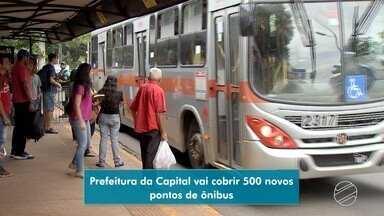 Prefeitura vai cobrir 500 novos pontos de ônibus em Campo grande - Serão investidos mais de R$ 2 milhões na iniciativa.