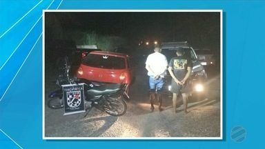 PM recupera moto furtada em supermercado no bairro Universitário - Moto foi recuperada nesta quinta-feira.