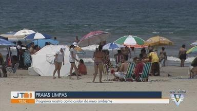 Programa Verão no Clima traz a preservação ambiental como tema da temporada - Programa busca mostrar os cuidados para manutenção das praias durante a temporada.