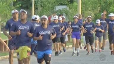Maioria dos funcionários de uma empresa em Cuiabá se preparam para a Corrida de Reis - Maioria dos funcionários de uma empresa em Cuiabá se preparam para a Corrida de Reis.