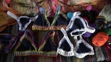 Biquíni de crochê baiano vira briga judicial nos Estados Unidos - Artesã de Trancoso entrou com processo na justiça depois de descobrir que seus biquínis foram copiados por marca estrangeira.