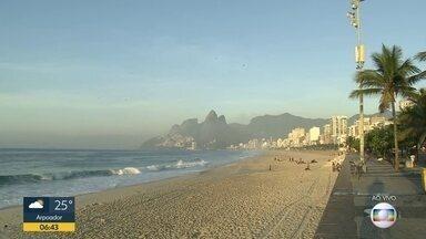Previsão é de sol e calor para o Rio de Janeiro nesta segunda-feira (7) - Não deve chover na Região Metropolitana. Previsão de chuva isolada na Região Serrana. A temperatura máxima prevista para a Região Metropolitana é de 40ºC.